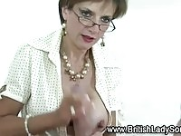 Mature femdom slut makes dick cums